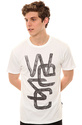 Men's The Charcoal Overlay Tee in White, T-shirts