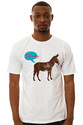 Men&#39;s The Donkey Talking Tee in White, T-shirts