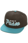 Men's The Obey Posse Snapback in Black & Teal, Hat