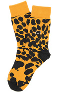 Men's The Leopard Cap Crew Socks in Gold, Socks