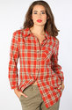 Women&#39;s The Sally Plaid Tunic, Tops (L/S)
