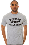 Men's The Chilldren Crest Tee in Athletic Gray, T-