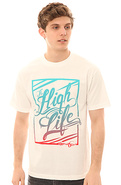 Men&#39;s The High Life Tee in White, T-shirts