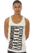 Men's The Rich Advisory Big Tank Top in Off White,