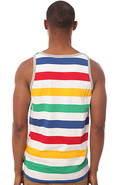 Men's The Striped Pocket Tank Top in White, Tank T