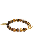 Men&#39;s The Gemstone Bracelet in Brown Tigereye, Jew