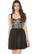 Women's The Force of Nature Dress in Black, Dresse
