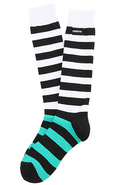Men's The Stripe High Sock in Vivid Green, Socks