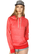 Women's The Heron Hoody in Cardinal Heather, Sweat