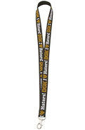 Men's The Haters Lanyard in Black & Gold, Accessor
