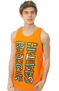 Men's The 90's Tank in Orange, Tank Tops