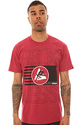 Men's The Flag Stack Tee in Red, T-shirts