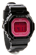 Women's The Baby G Glide Watch in Black and Pink,