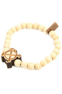 Men's The Good Wood x IN4M Crossbone Bracelet, Jew