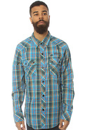 Men's The Dx1369 Buttondown Shirt in Blue Plaid, B