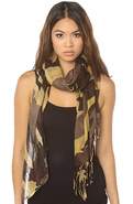 Women's The Camo Scarf in Brown Multi, Scarves