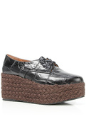 Women's The Hayes Shoe in Black Croc, Shoes