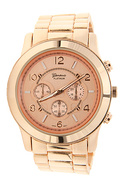 Women&#39;s The Large Face Basic Watch in Rose Gold, W