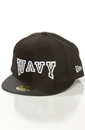 Men's The Wavy Fitted Hat in Black, Hats