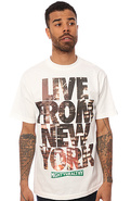 Men&#39;s The Live From NY Tee in White, T-shirts