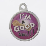 TagWorks Personalized Dome   Who's a Good Girl   P