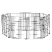 Midwest Black Exercise Pen Without Door - 30