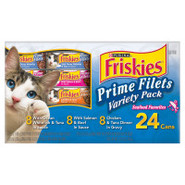 Friskies Prime Filets Seafood Variety 24-Pack