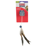 KONG for Cats Ball with Feathers Denim Toy