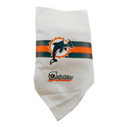 Miami Dolphins Dog Collar Bandana