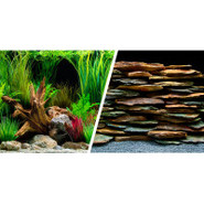 Marina Reversible Precut Aquarium Background - Pla
