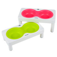 Wetnoz Studio Duo Elevated Dog Dining System