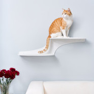 The Refined Feline Cat Clouds Cat Shelf  White