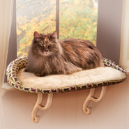 K&amp;H Pet Products Deluxe Kitty Sill with Bolster