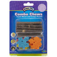 Super Pet Apple Wood &amp; Crispy Puzzle Combo Chew