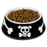Top Paw(tm) Black Skull & Bone Dog Bowl