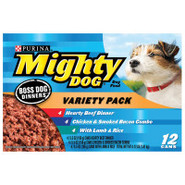 Purina Mighty Dog Boss Dog Dinners Dog Food Variet