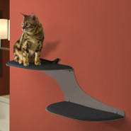 The Refined Feline Cat Clouds Cat Shelf  Titanium