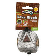 Super Pet Natural Lava Block with Wood Chews Toy f