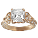 Tressa Rose Goldplated Silver Princess-cut Cubic Z