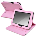 Pink Leather Swivel Case for Amazon Kindle Fire HD