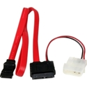20in Slimline SATA to SATA with LP4 Power Cable Ad