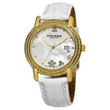 Women's Swiss Quartz Crystal Mother of Pearl