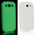 White Luminous Skin Case for Samsung Galaxy S III/