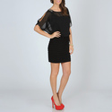 Black Dolman Sleeve Dress