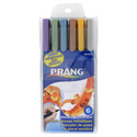 Prang Assorted Metallic Brush Pens (Set of 6)