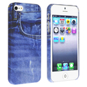 Blue Jean Rear Snap-on Rubber Case for Apple?? iPh