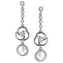 Tressa Sterling Silver Cubic Zirconia Dangle Earri