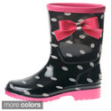 Girls' Polka Dot Bow Detail Rain Boots