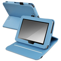 Blue Leather Swivel Case for Amazon Kindle Fire HD
