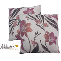 Aries 18-inch White/ Pink Decorative Pillows (Set